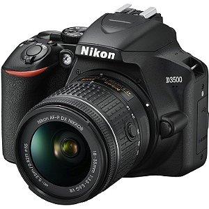 Câmera Nikon D3500 Kit Lente Nikon AF-P NIKKOR 18-55mm f/3.5-5.6G VR