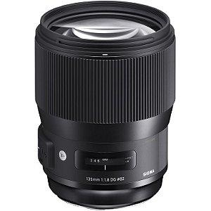 Lente Sigma 135mm f/1.8 DG HSM Art para câmeras Canon EOS
