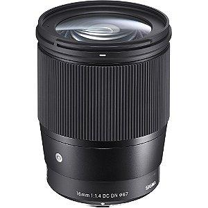 Lente Sigma 16mm f/1.4 DC DN Contemporary para câmeras Sony E