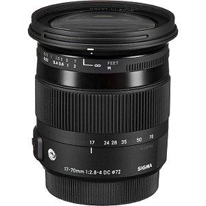 Lente Sigma 17-70mm f/2.8-4 DC Macro OS HSM para câmeras Canon EOS EF-S