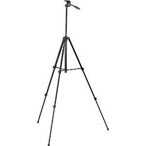 Tripé Velbon EX 330, com cabeça de 2 vias, carga máxima 1kg, altura 145cm, fechado 50cm