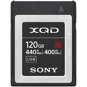 Cartão de Memória Sony 120GB XQD G Series 440MB/s