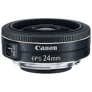 Lente Canon EF-S 24mm f/2.8 STM com Parasol original Canon ES-52