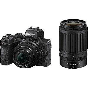 Câmera Nikon Nikon Z 50 Mirrorless Kit com Lentes Nikon Z DX 16-50mm, Z DX 50-250mm e Adaptador FTZ