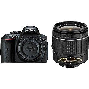 Câmera Nikon D5300 Kit Lente Nikon AF-P NIKKOR 18-55mm f/3.5-5.6G VR