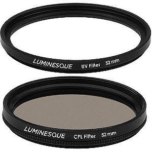 Filtro LUMINESQUE 52mm Kit Circular Polarizador e UV Slim PRO