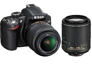 Câmera Nikon D3200 kit com Lente Nikon 18-55mm e Lente Nikon 55-200mm ED VR II