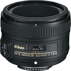 Lente Nikon AF-S NIKKOR 50mm f/1.8G  + filtro de proteção UV