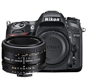 Câmera Nikon D7100 Kit com Lente Nikon AF Nikkor 50mm f/1.8D