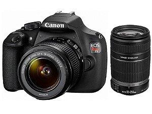 Câmera Canon EOS Rebel T5 PREMIUM KIT com Lentes EF-S 18-55mm e EF-S 55-250mm IS II