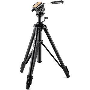 Tripé Velbon DV-7000N com cabeça fluída para vídeo, Altura 162,5cm, Carga máxima 6kg