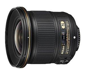 Lente Nikon AF-S NIKKOR 20mm f/1.8G ED A Lente ultragrande angular mais rápida da Nikon