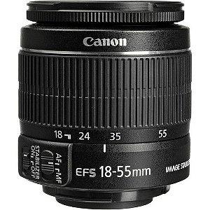 Lente Canon EF-S 18-55mm f/3.5-5.6 IS STM caixa branca