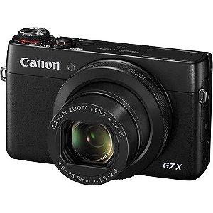 Câmera Canon PowerShot G7 X (Preta) 20.1 MegaPixels, Zoom Ótico de 4.2x, Vídeo Full HD