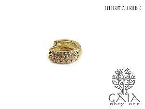 Argola Dourada Zircônias Bella
