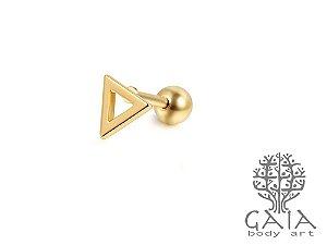 Micro Barbell Triângulo Dourado