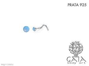 Nostril Prata 925 Opala Azulada