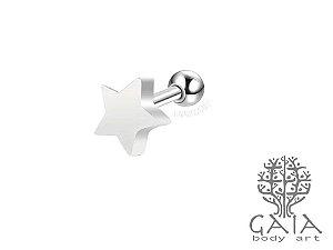 Micro Barbell Aço Cirúrgico Estrela