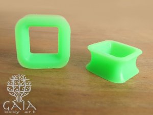 Alargador Silicone Quadrado Verde