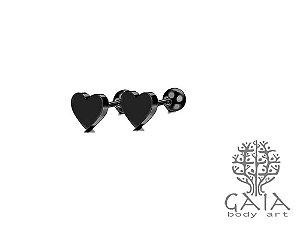 Micro Barbell Coração Preto