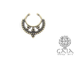 Piercing Falso Septo Ouro Velho Shiva