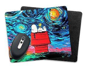 Mousepad Noite Estrelada Snoopy 19x23 Base Borracha
