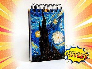 Bloco de anotações tema Van Gogh