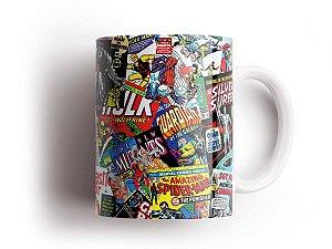Caneca Geek Quadrinhos Marvel Super Herois