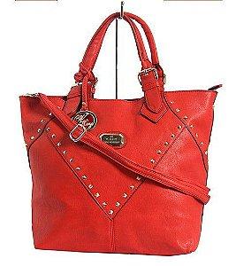 Bolsa feminina  vermelha alto padrão, brinde linda pulseira