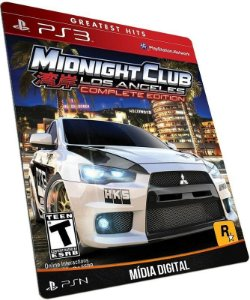 Midnight Club Los Angeles Complete Edition PS3 / PSN - MÍDIA DIGITAL