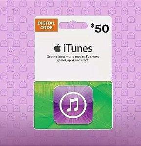 Itunes Gift Card $50 Dólares Usa