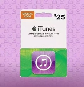 Itunes Gift Card $25 Dólares Usa