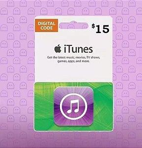 Itunes Gift Card $15 Dólares Usa