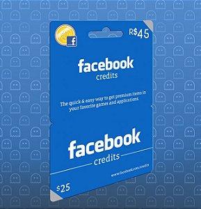 Facebook Card - Cartão R$ 45