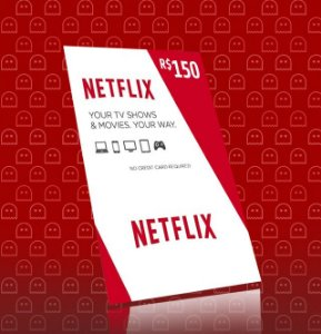 Cartão Netflix R$150 Reais - Assinatura