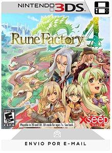 3DS - RUNE FACTORY 4 - DIGITAL CÓDIGO 16 DÍGITOS AMERICANO