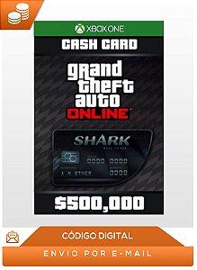 Gta Online Bull Shark Cash Card 500.000$ Xbox One Dlc Key