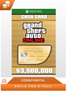Gta Online The Whale Shark Cash Card 3,500,000$ Dlc Xbox One