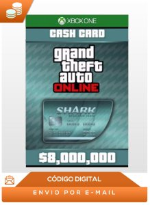 Gta Online Megalodon Shark Cash Card Xbox One 8,000,000$ Dlc