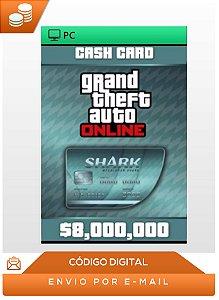 Gta Online Megalodon Shark Cash Card Pc 8,000,000$ Dlc