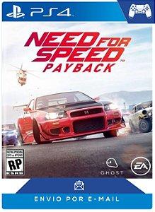 Need for Speed™ Payback PS4 Código PSN 12 Dígitos