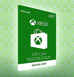 Cartão Xbox Live $50 USA