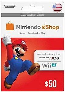 Cartão Nintendo eShop $50