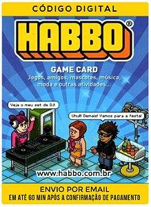 CARTÃO Habbo Créditos 30c+30 Diamantes