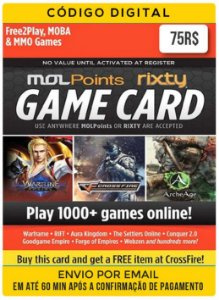 Game card Mol Points Rixty 75R$