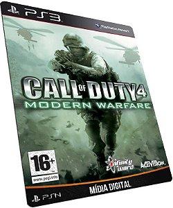Call of Duty 4 Modern Warfare PS3 PSN MÍDIA DIGITAL