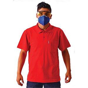 Camiseta gola polo manga curta malha piquet