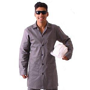 Avental profissional manga longa em tecido 100% algodão