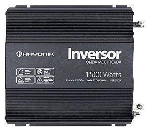 INVERSOR ONDA MODIFICADA 1500W - 12V / 127V - HAYONIK