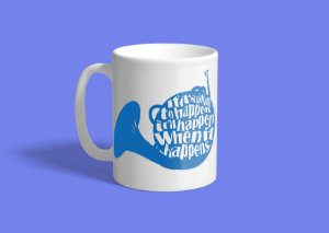 Caneca Blue French Horn 325ml